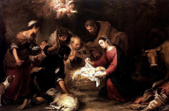 家畜の小屋で生まれたメシア Mary & Jesus by Murillo 15