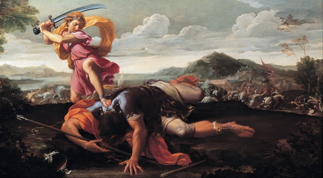 巨人ゴリアテを倒す少年ダビデ