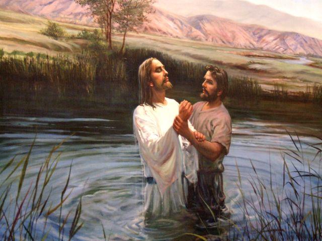 バプテスマを受けるイエス