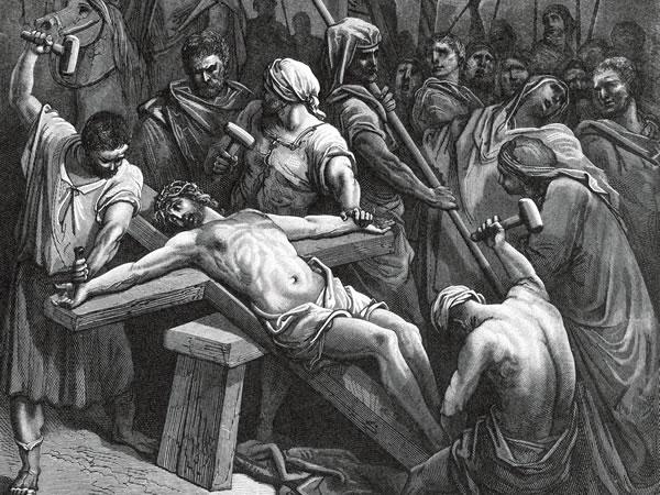 十字架に架けられるイエス