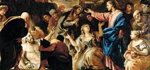 ラザロを復活させるイエス
