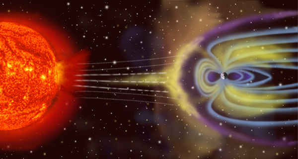 太陽から地球を守る地球の磁場