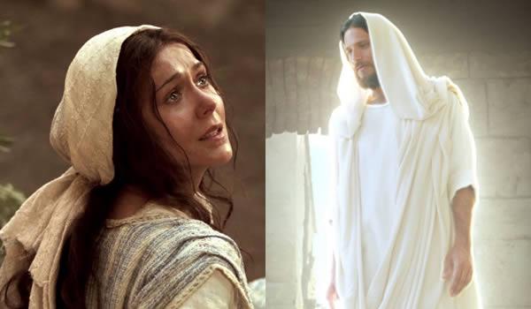 ガブリエルから受胎告知をされるマリア