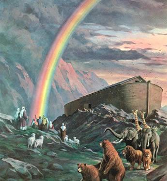 虹は神との契約のしるしだった