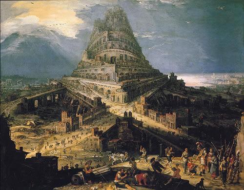 バベルの塔を建設する人々