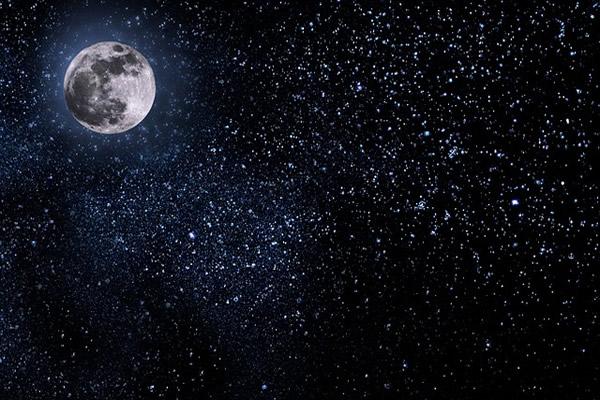 満月―夜空の星