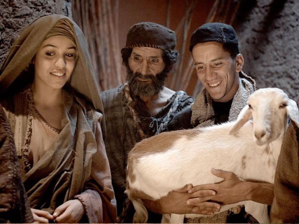 羊飼いたち、幼子を見て喜ぶ